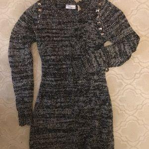 Allison Brittney Mini Light Sweater Stud Dress S
